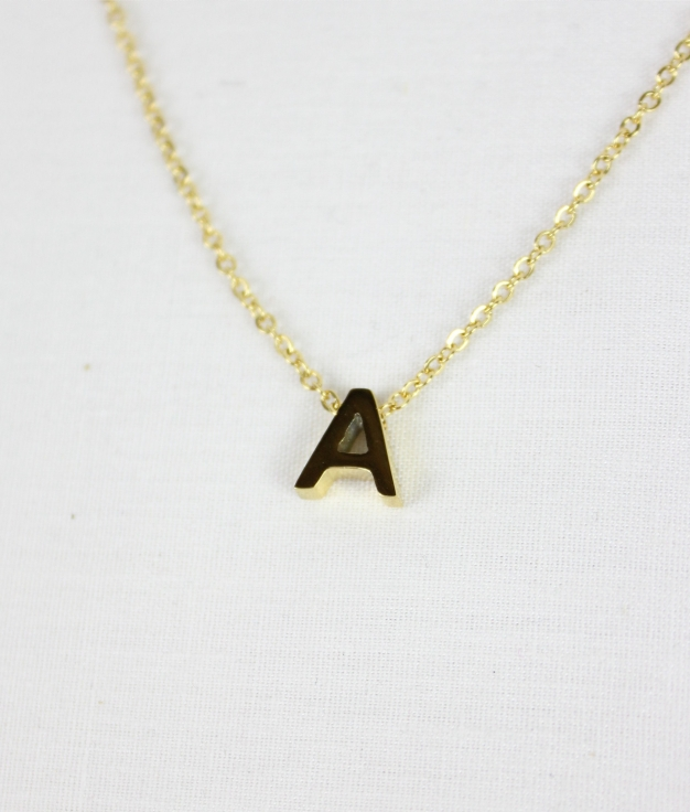 """COLLIER INICIAL """"A"""" - D'OR"""