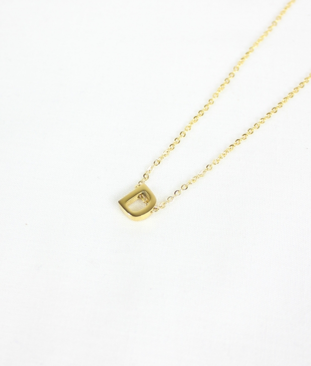 """COLLIER INICIAL """"D"""" - D'OR"""