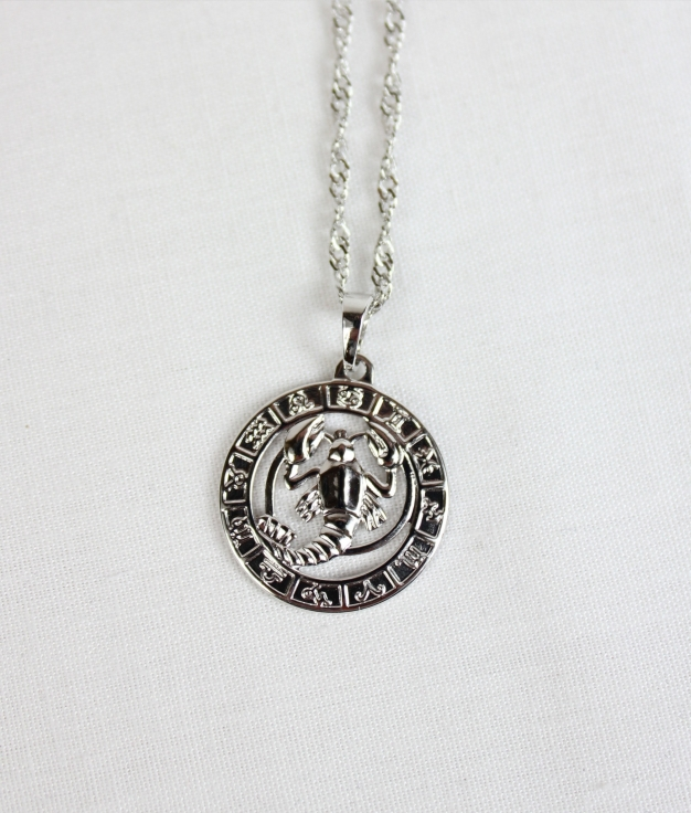 NECKLACE HOROSCOPE ESCORPIO - SILVER