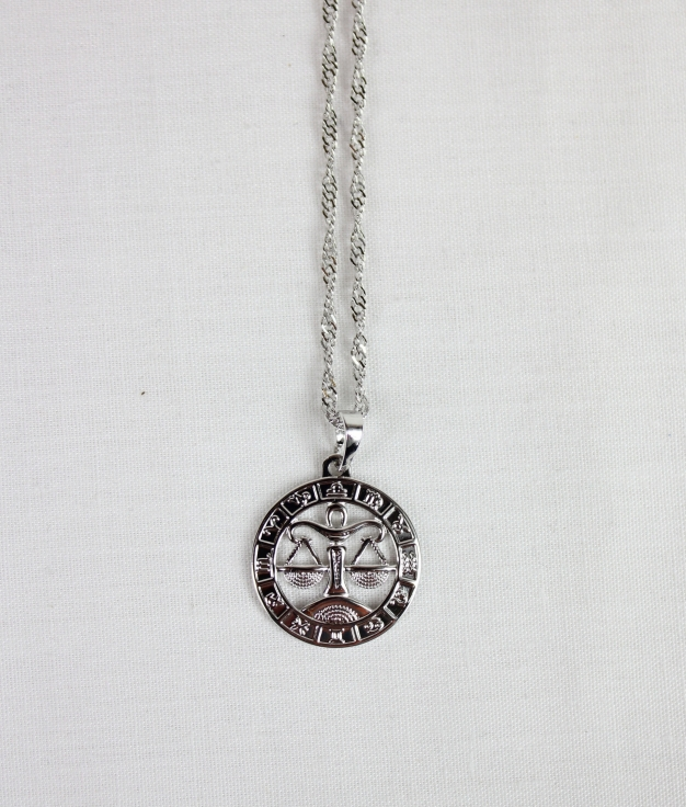 NECKLACE HOROSCOPE LIBRA - SILVER