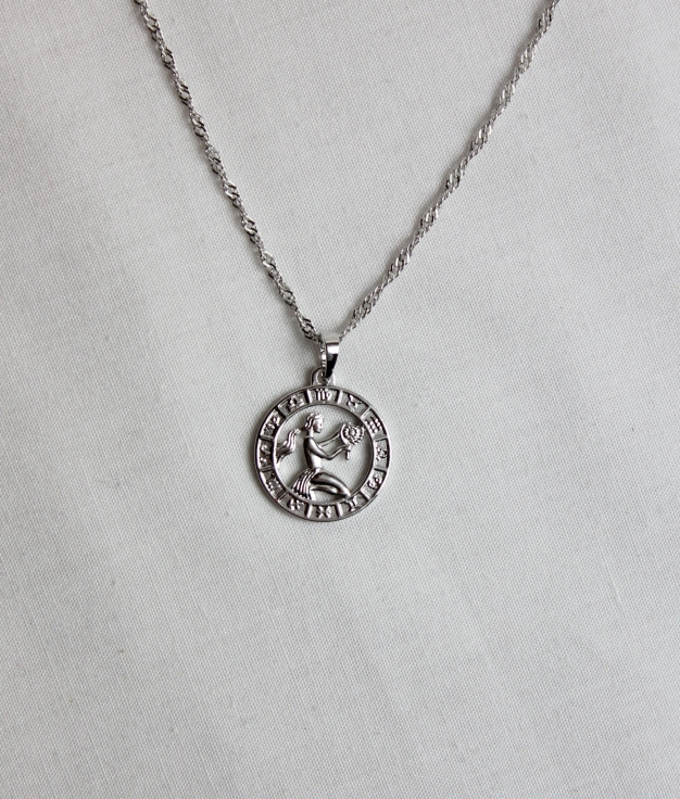 NECKLACE HOROSCOPE VIRGO - SILVER