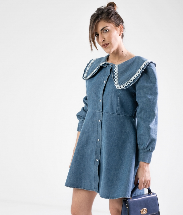 SIRREL DRESS - DENIM OSCURO