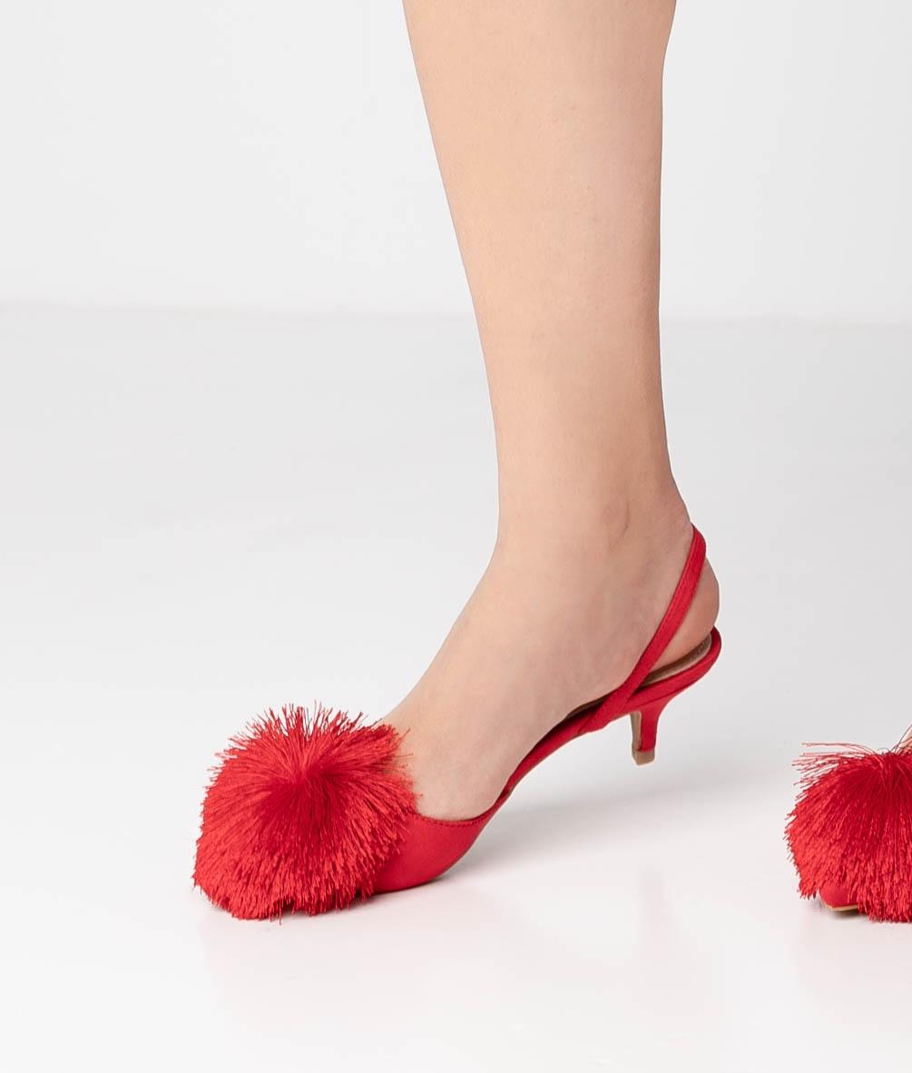 Scarpe De Tacón Liria - Rosso