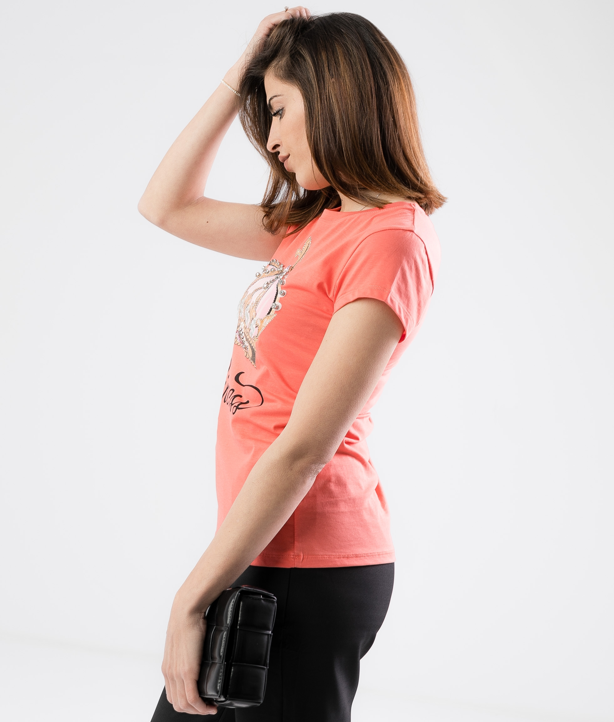Camiseta Hunci - Coral