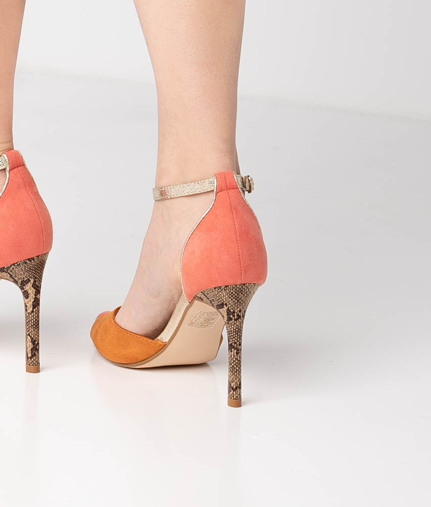 Sandalia de Tacón Tina - Naranja