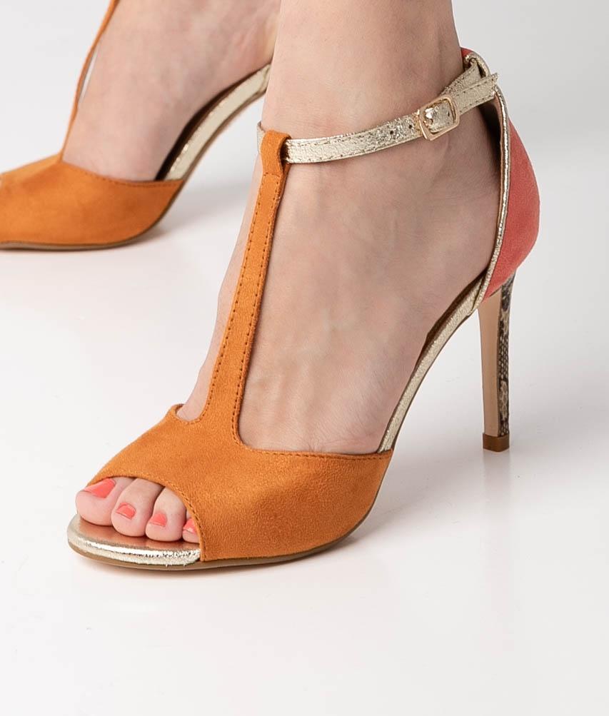 Sandalia de Tacón Tina - Orange