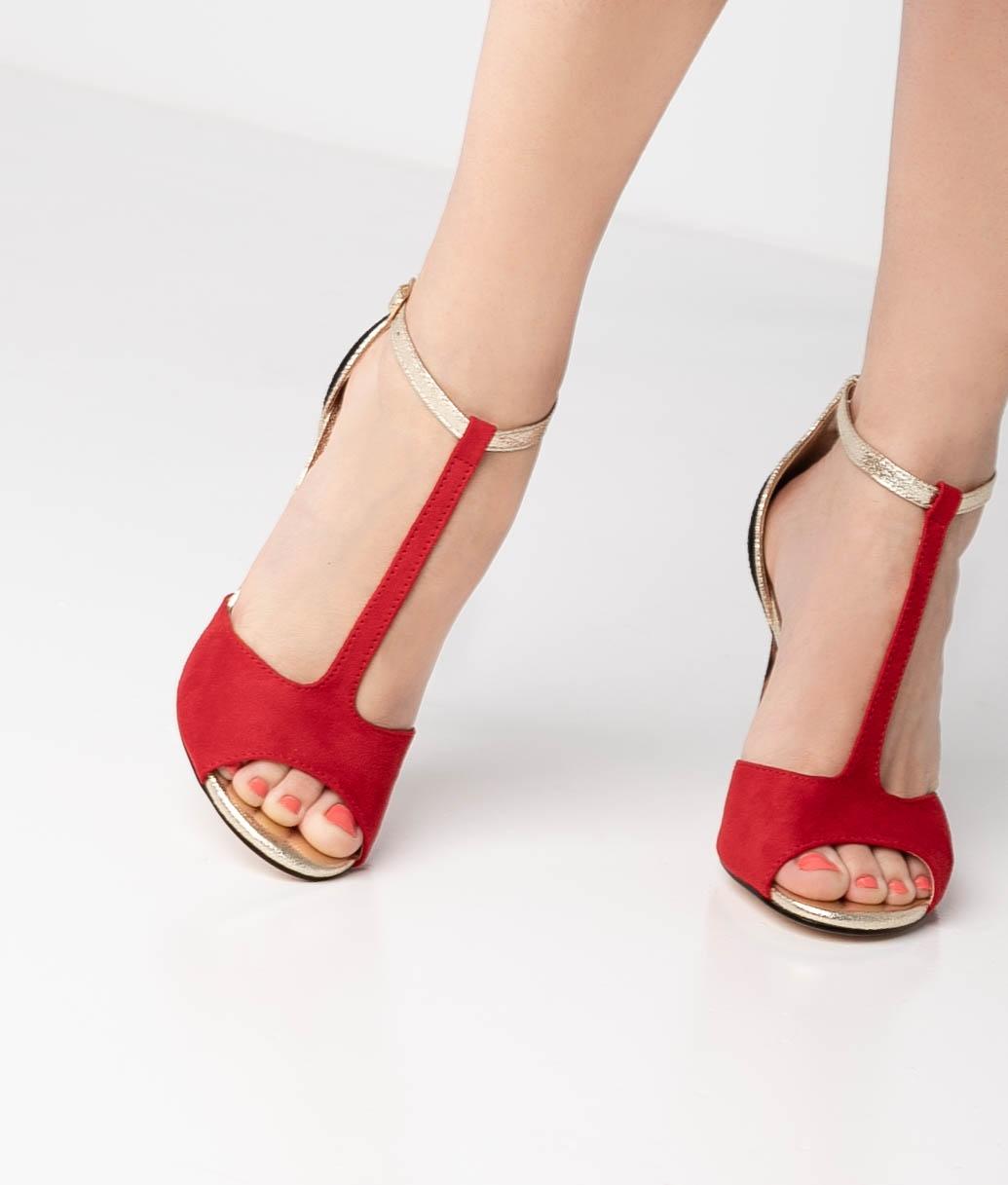 Sandalia de Tacón Tina - Rouge