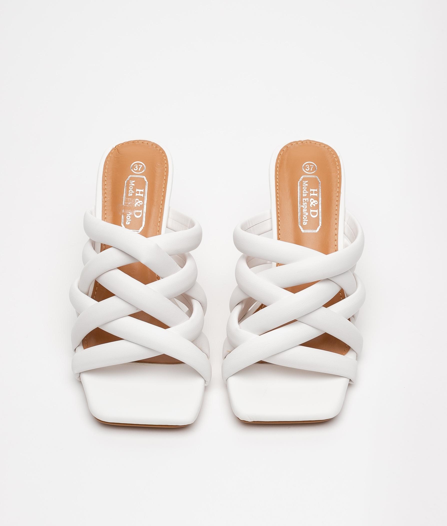 High Sandal Milay - White