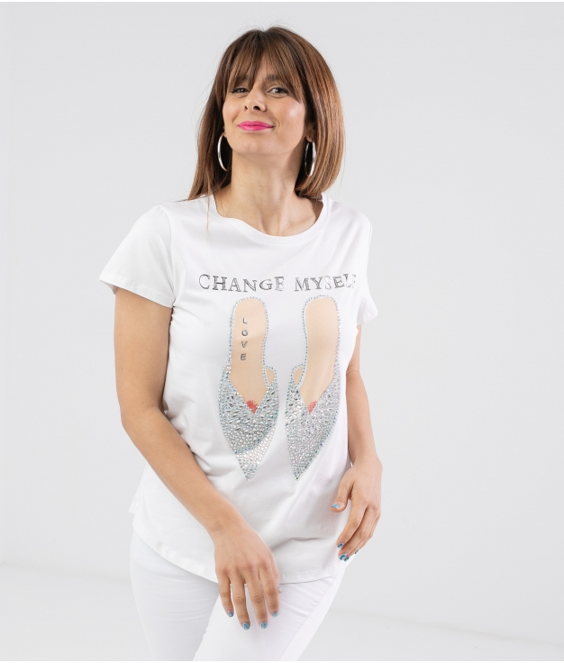 Camiseta Selin - Blanco