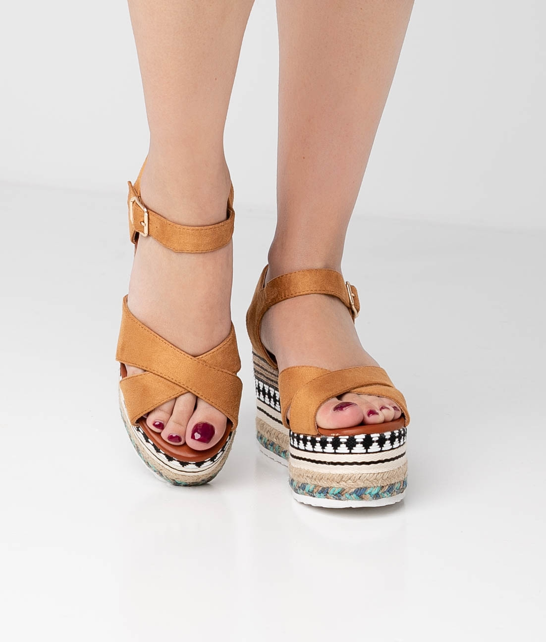 Wedge Heel Quiva - Camel