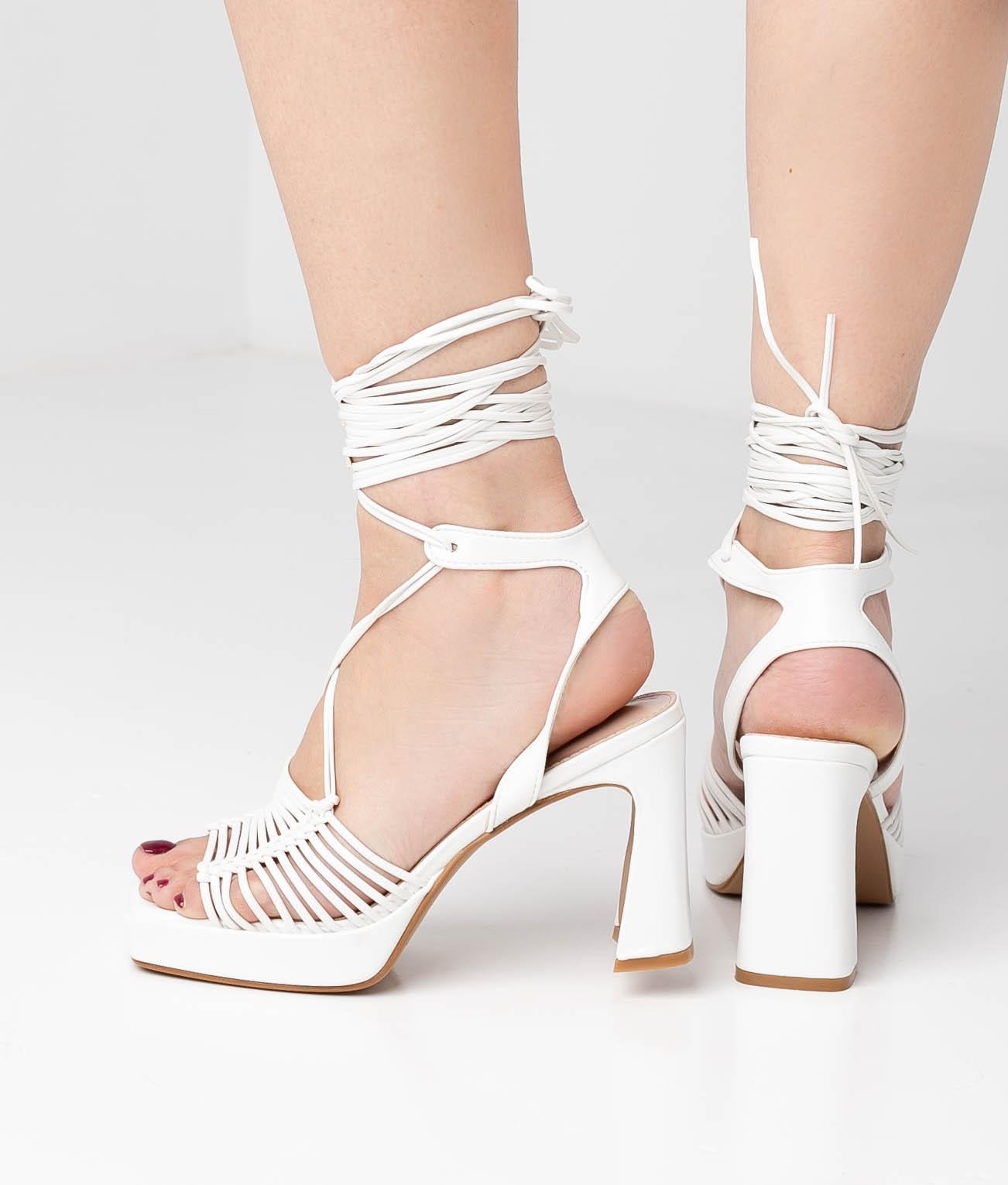 High Sandal Akola - White