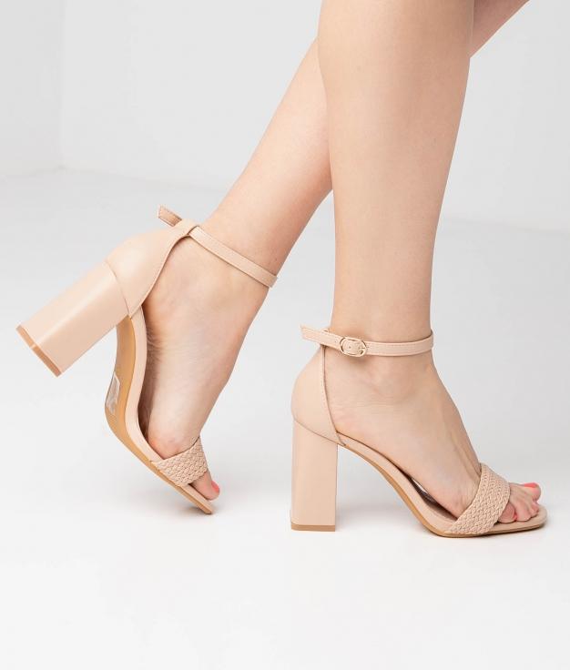 Sandália de Salto Erode - Nude