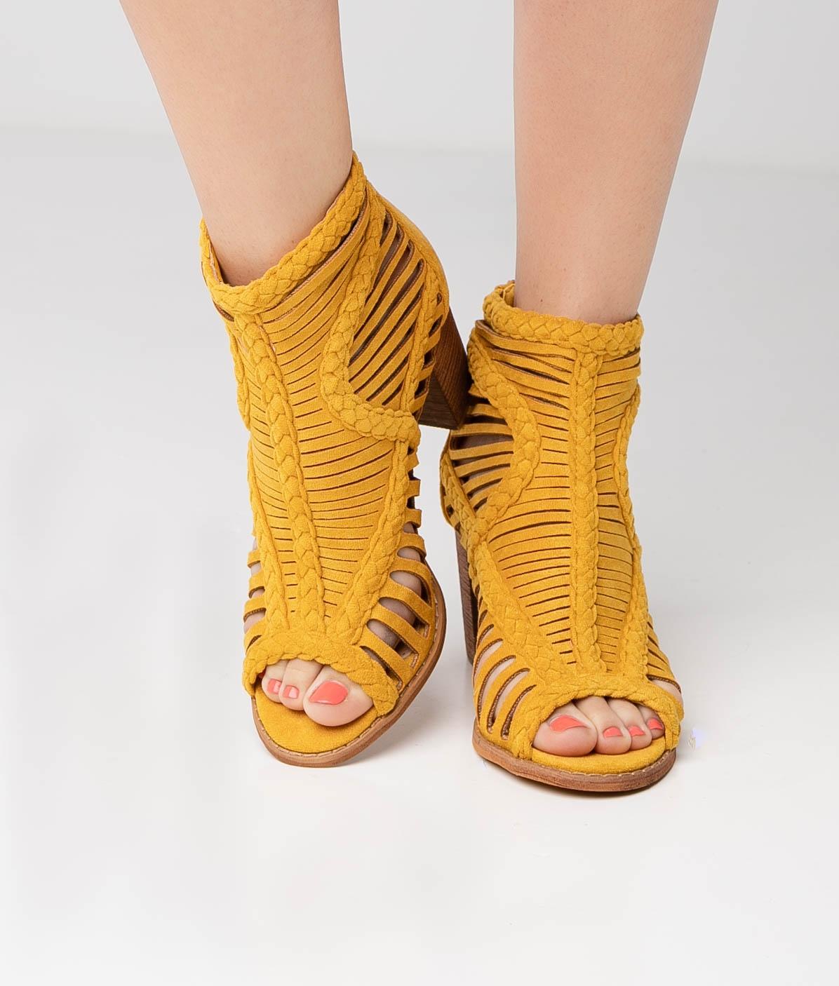 Sandalia de Tacón Satara - Yellow