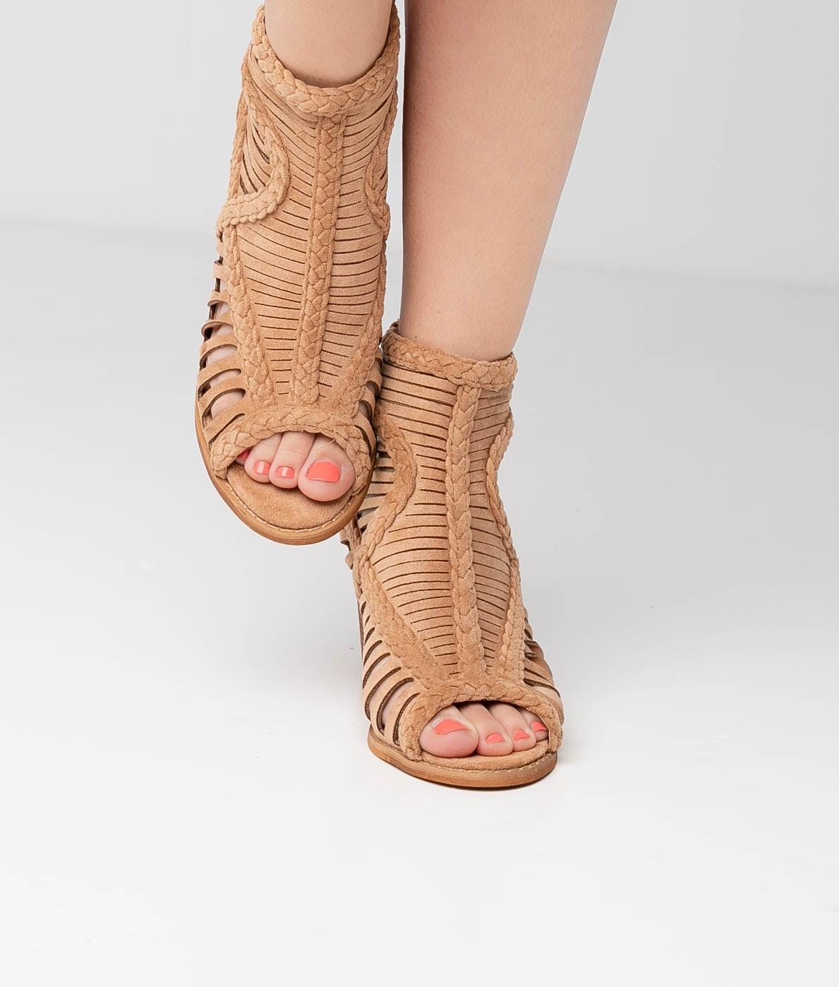 Sandalia de Tacón Satara - Marrón