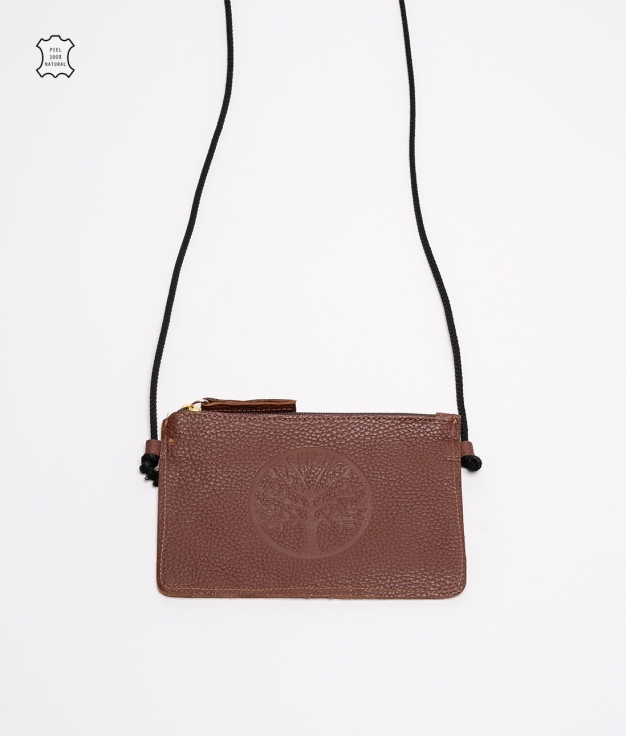 Mobile Holder Leather Caryn - Brown