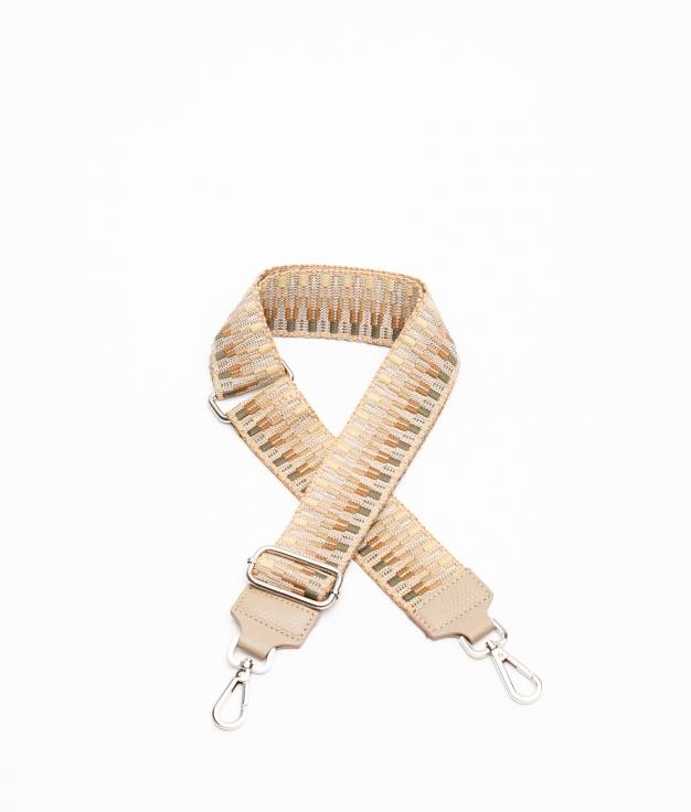 Miriam Leather Crossbody Handle - beige