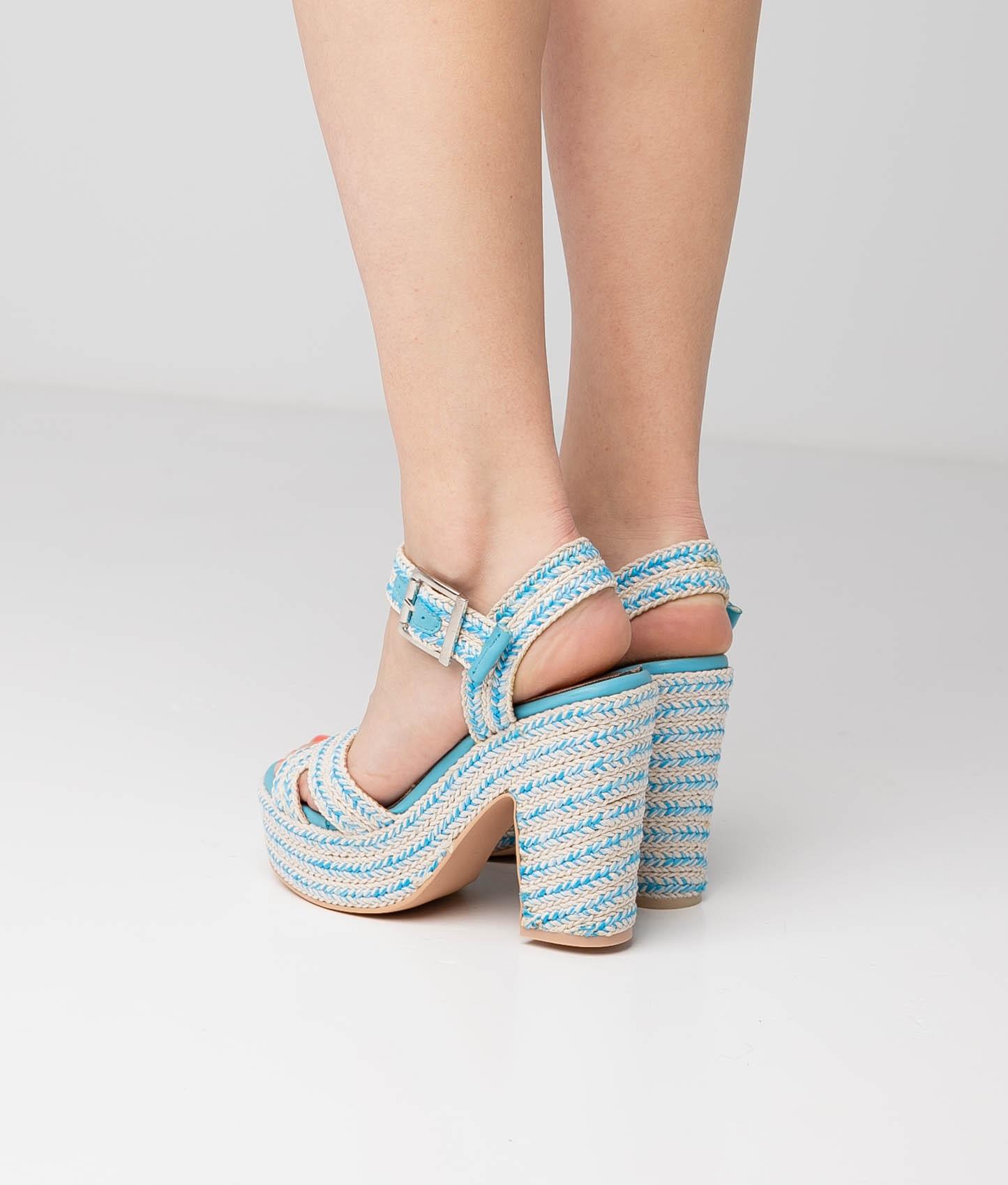 High Sandal Mau - Blue