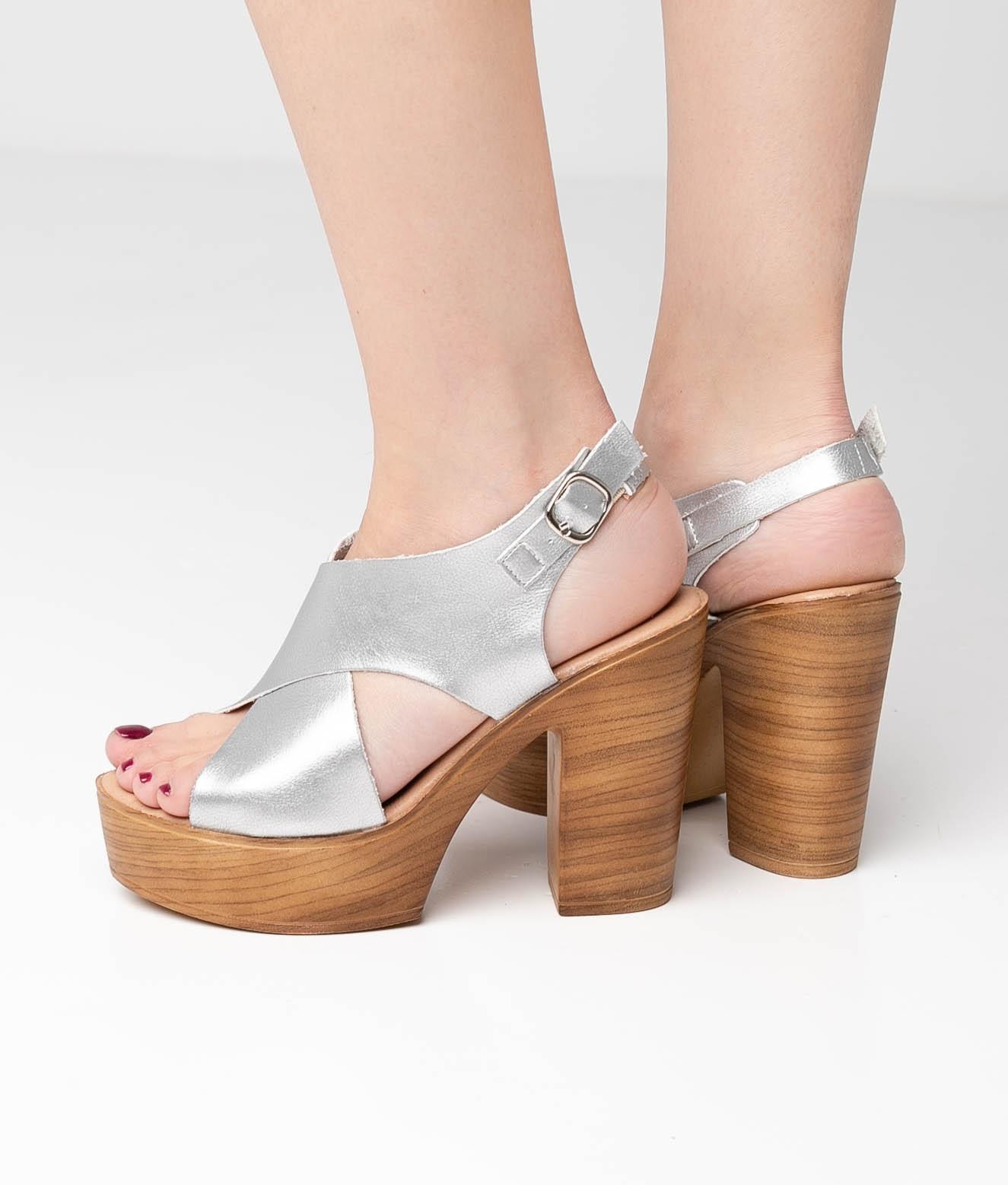 High Sandal Bidar - Silver