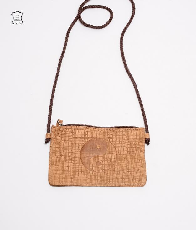 Mobile Holder Leather Isel- Cinnamon