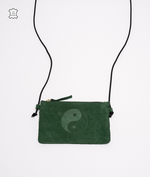 Mobile Holder Leather Isel- Green
