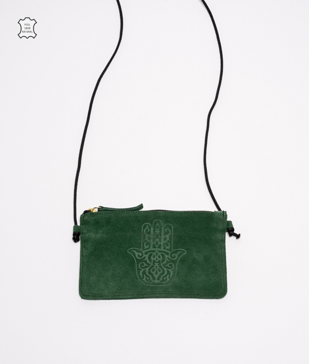 Mobile Holder Leather Rosely - Green