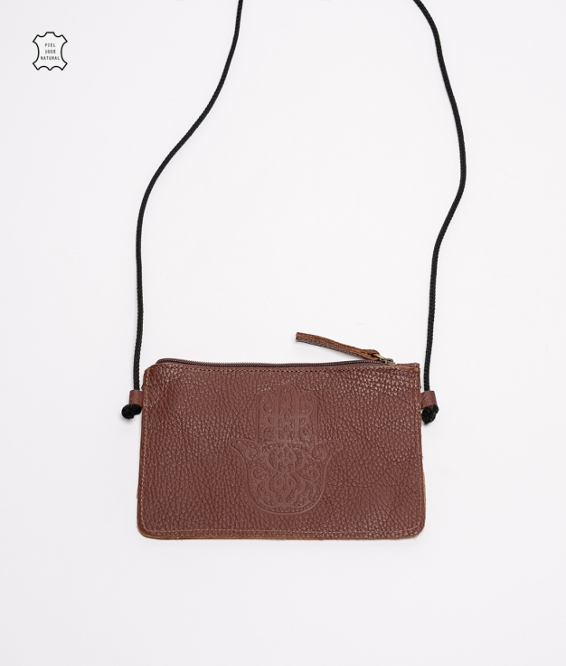 Mobile Holder Leather Rosely - Brown