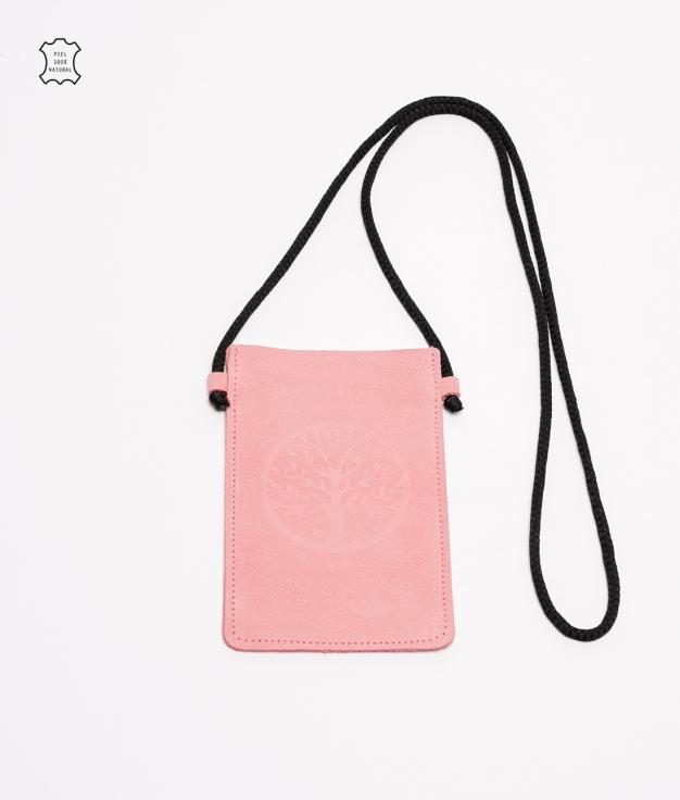Mobile Holder Leather Mitzi - Pink
