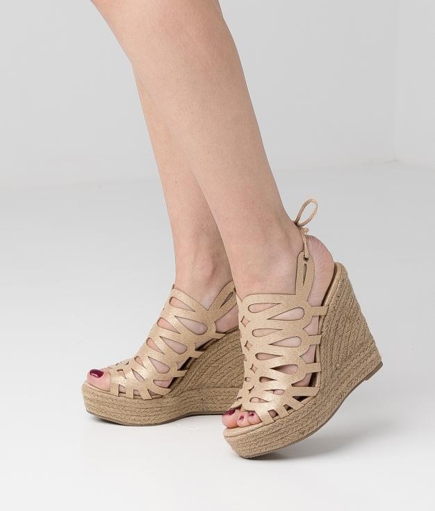 Wedge Heel Newar - Gold