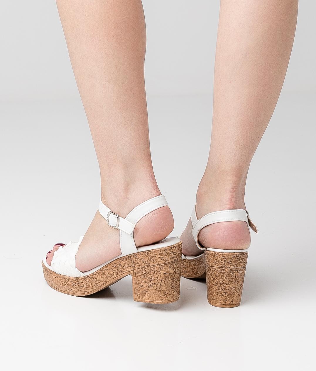 High Sandal Meran - White