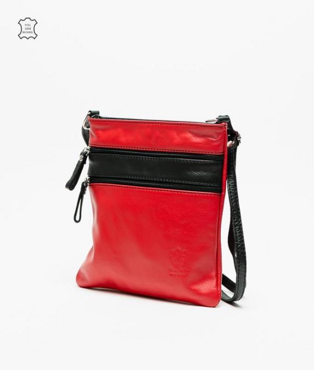 Bolso piel Polo - vermelho2