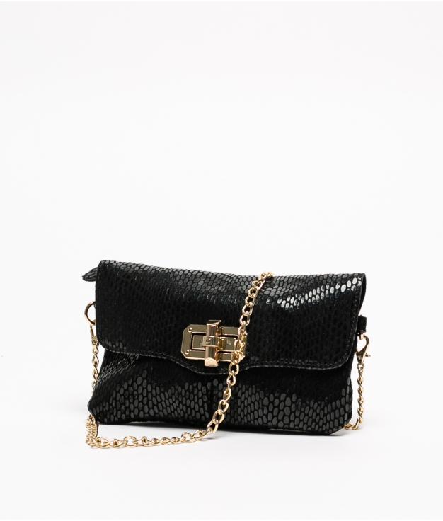 Leather bag Shine - Black