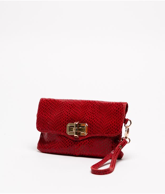 Bolsa de couro Shine - Vermelho