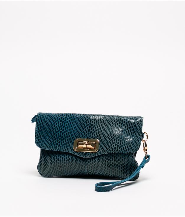 Bolsa de couro Shine - Azul