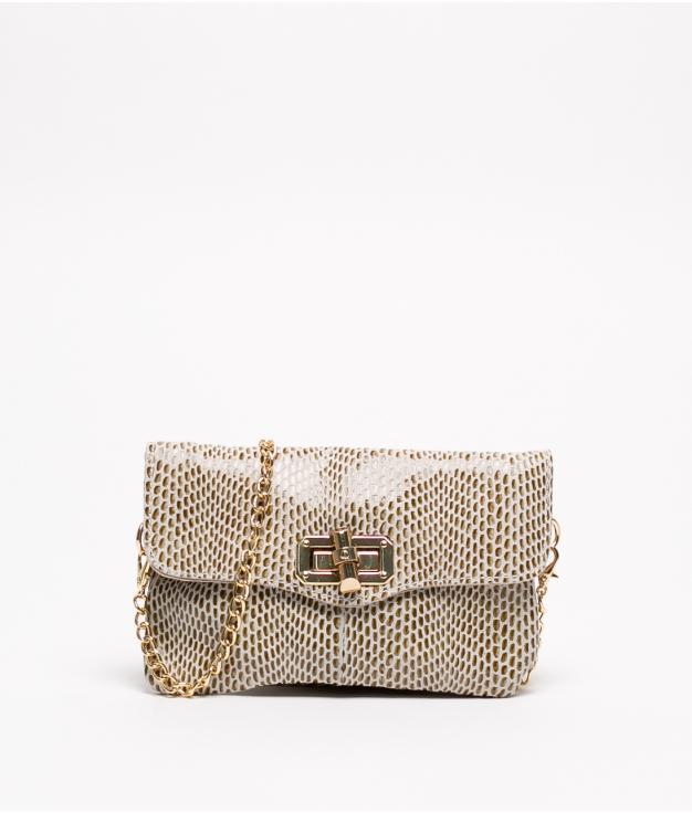 Leather bag Shine - Beige