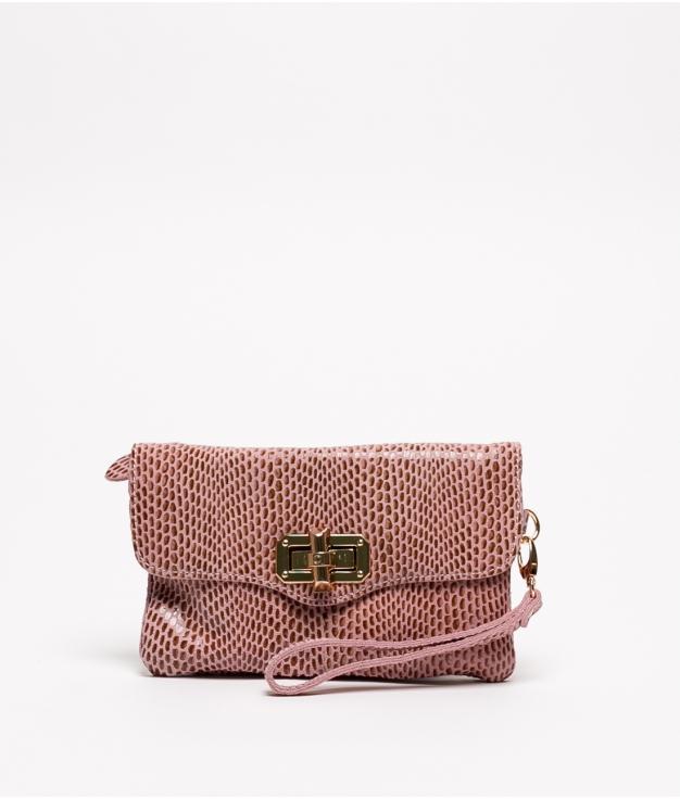Bolsa de couro Shine - Rosa