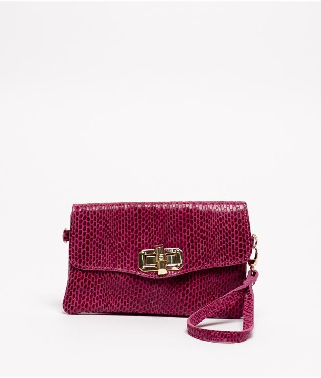 Leather bag Shine - Fucsia