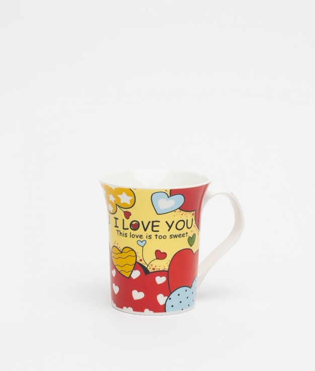 SWEET LOVE CUP - YELLOW/RED