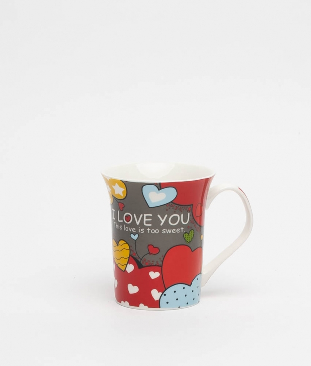 SWEET LOVE CUP - GREY/RED