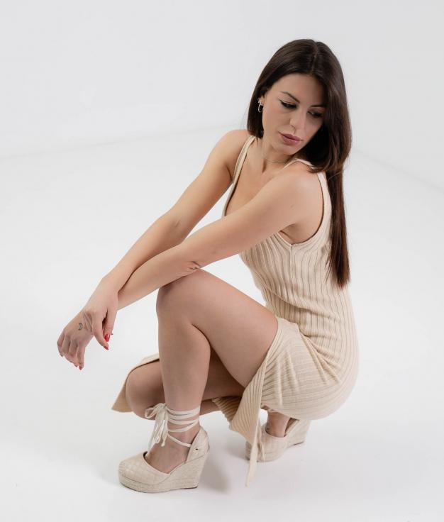 Vestido Zinia - Beige