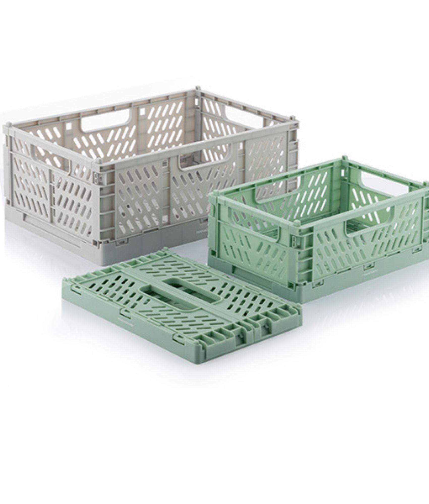 Set de 3 Cajas Organizadoras Plegables y Apilables Boxtor