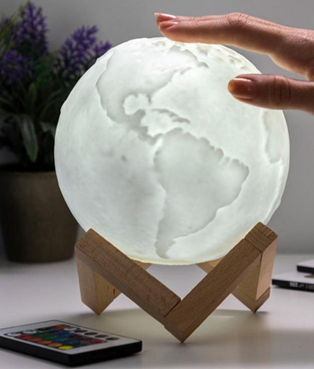 Lámpara LED Recargable Planeta Tierra Worldy