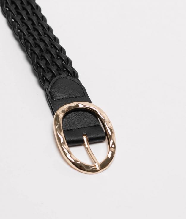 Cinturon Trenzado - noir