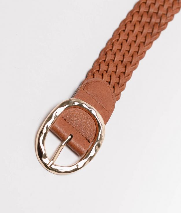 Cinturon Trenzado - marron
