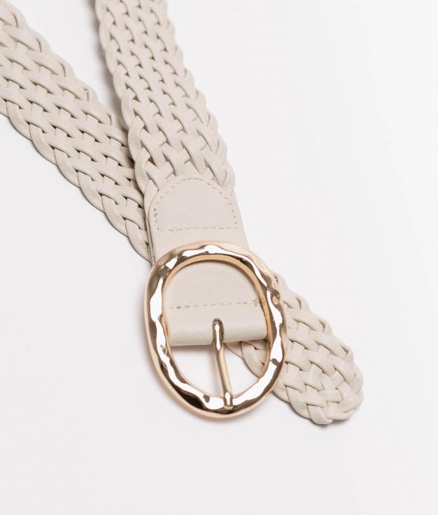 Cinturon Trenzado - beige