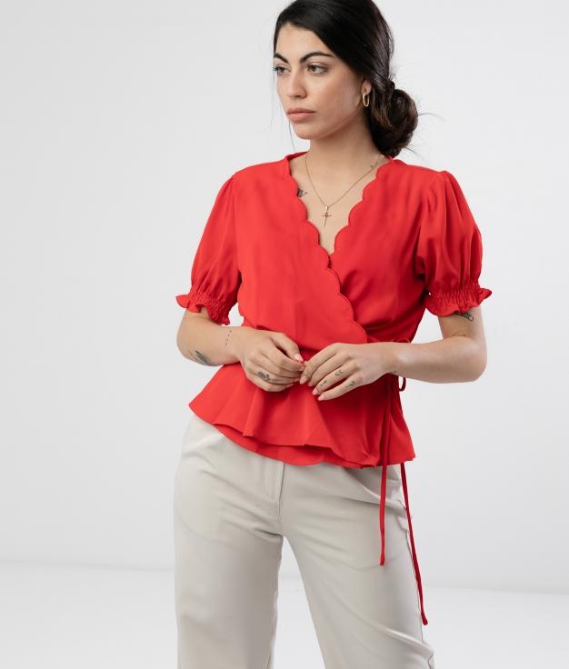 Blouse Linker - Red