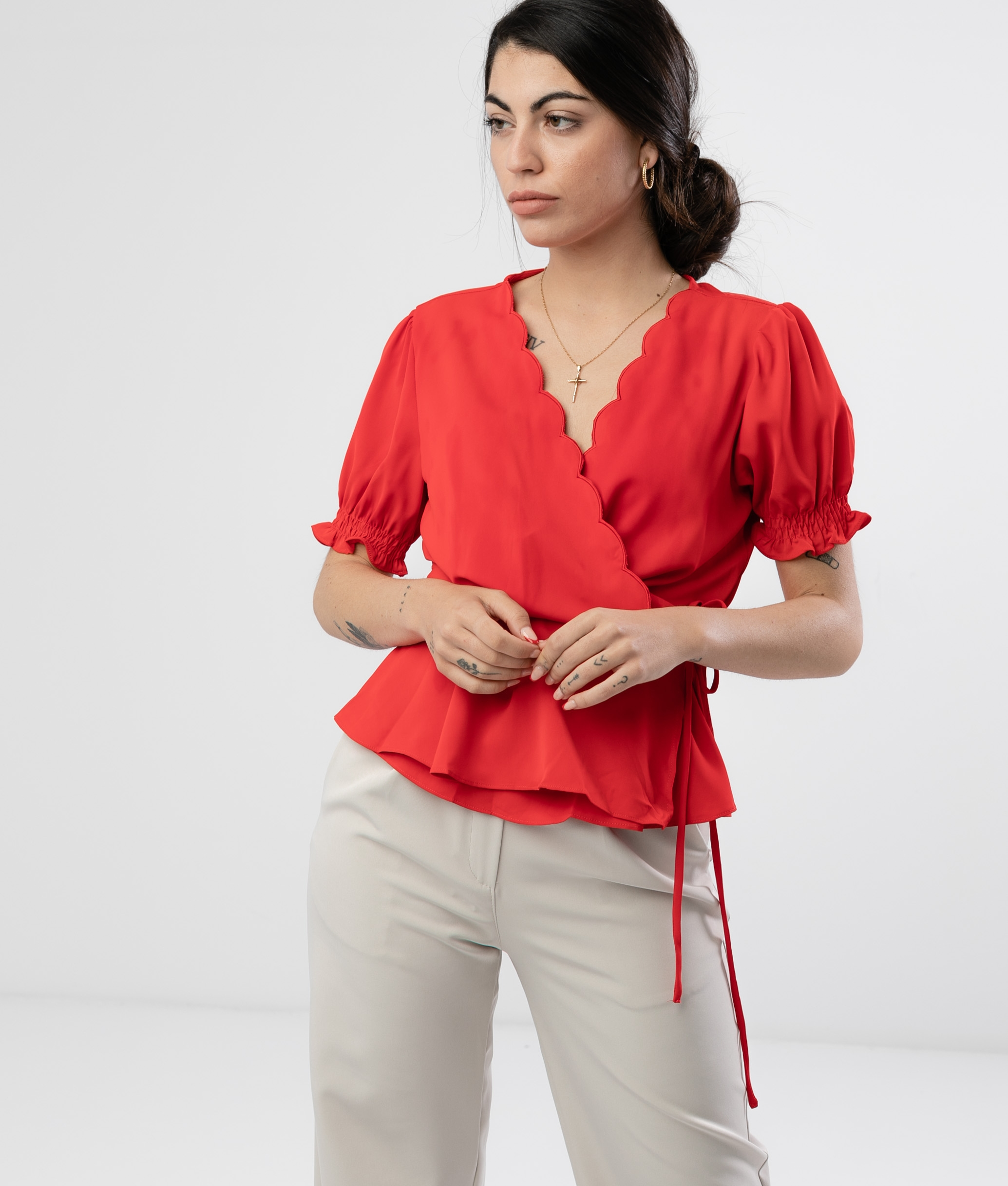 Blouse Linker - Red