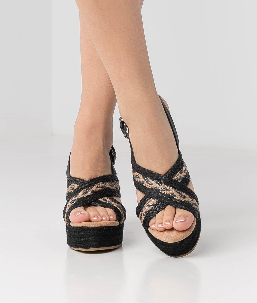 Sandália de Salto Balti - Preto