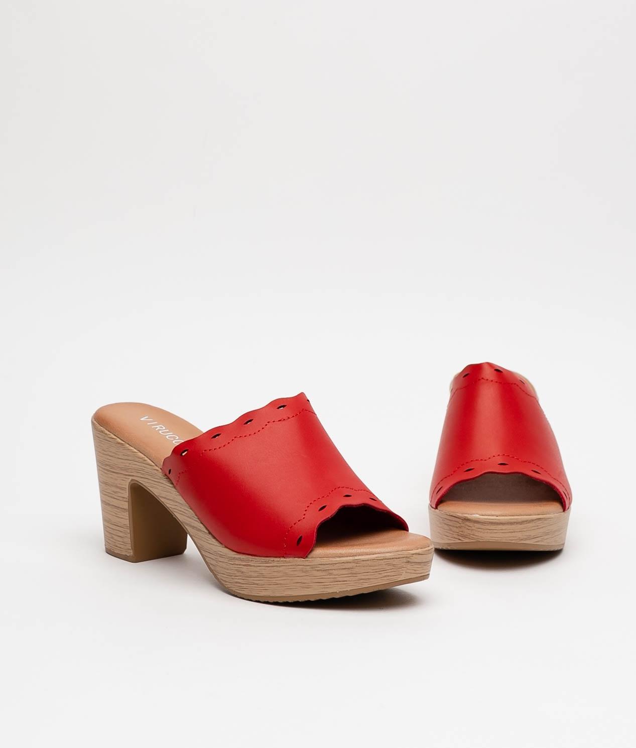 Sandale Talon Edirne - Rouge