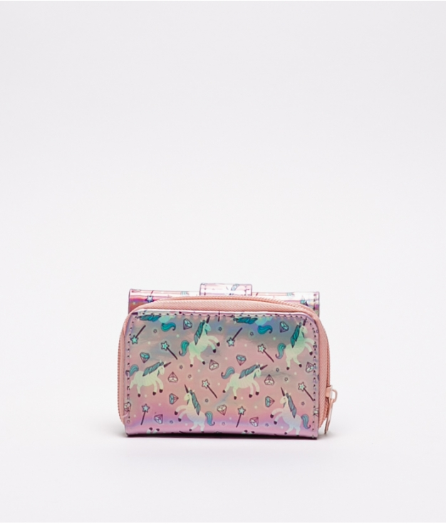 SAC À MAIN ASH - LICORNE ROSE