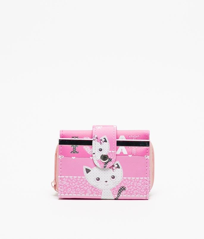 ROKO PURSE - PINK CAT